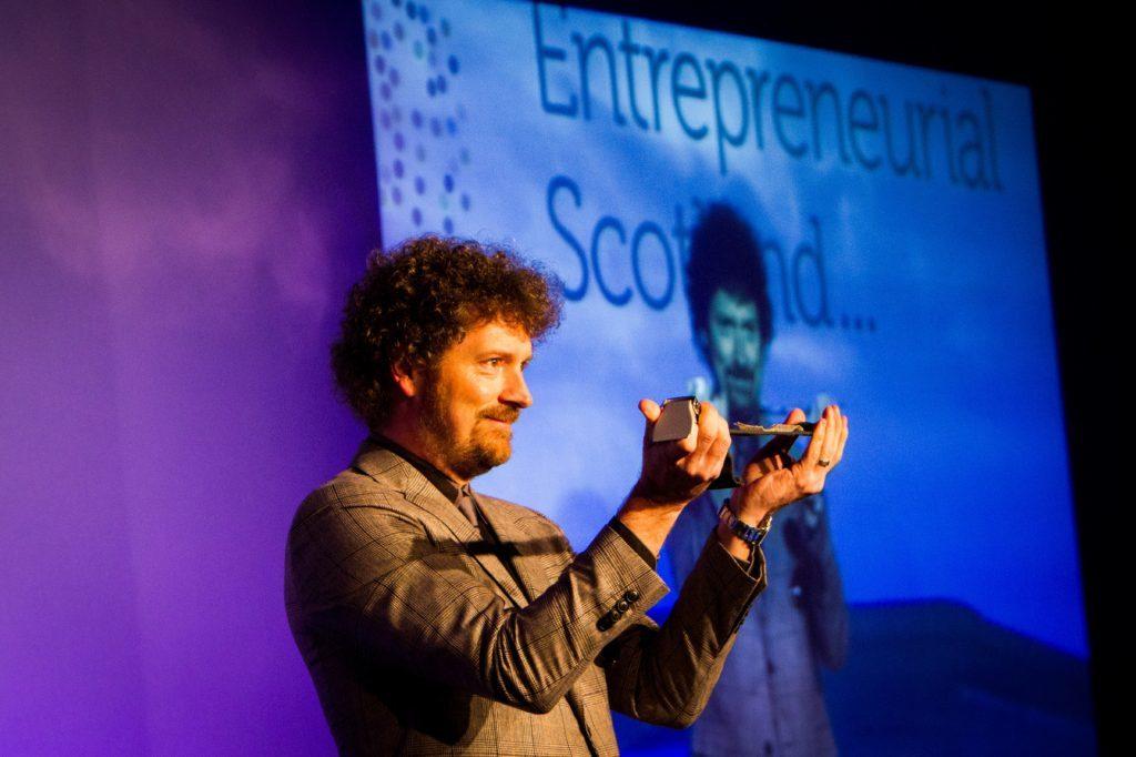 Steve MacDougall, Courier, Gleneagles Hotel, by Auchterarder. Entrepreneurial Scotland event. Pictured, Chris van der Kuyl (chairman of Entrepreneurial Scotland).