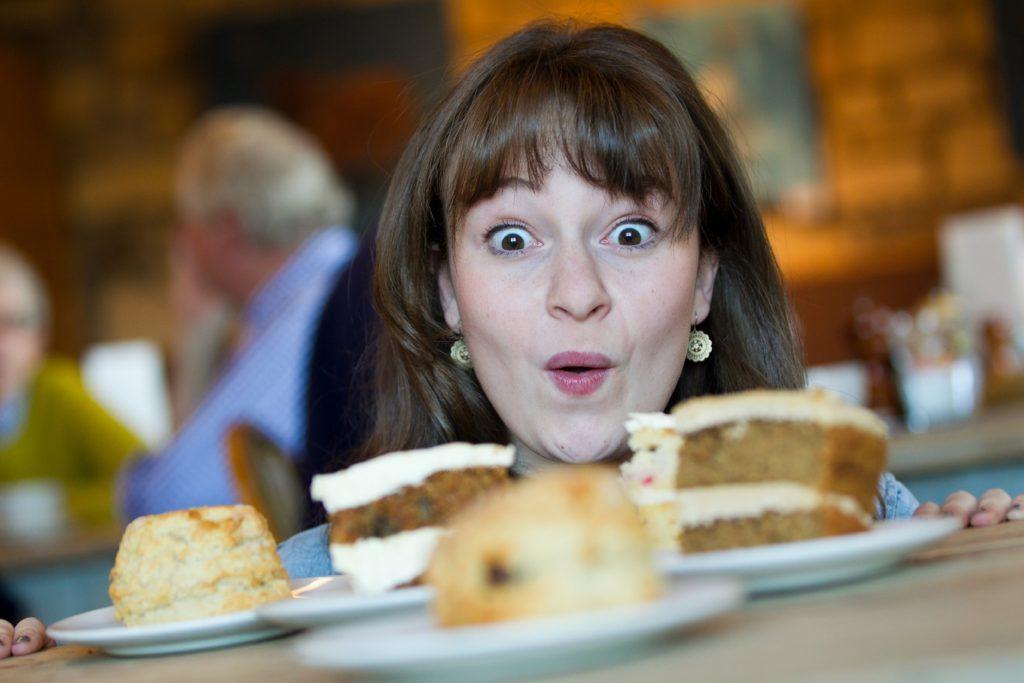 Great British Bake Off finalist, Flora Shedden, launch visited Balgove Larder in 2015