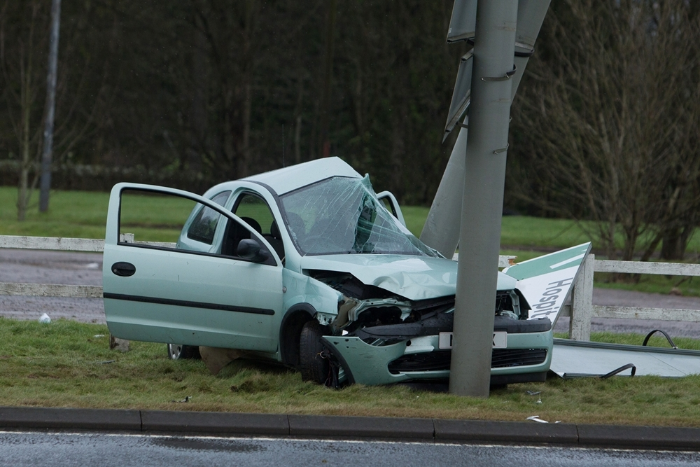 Accident at Stracathro in February.