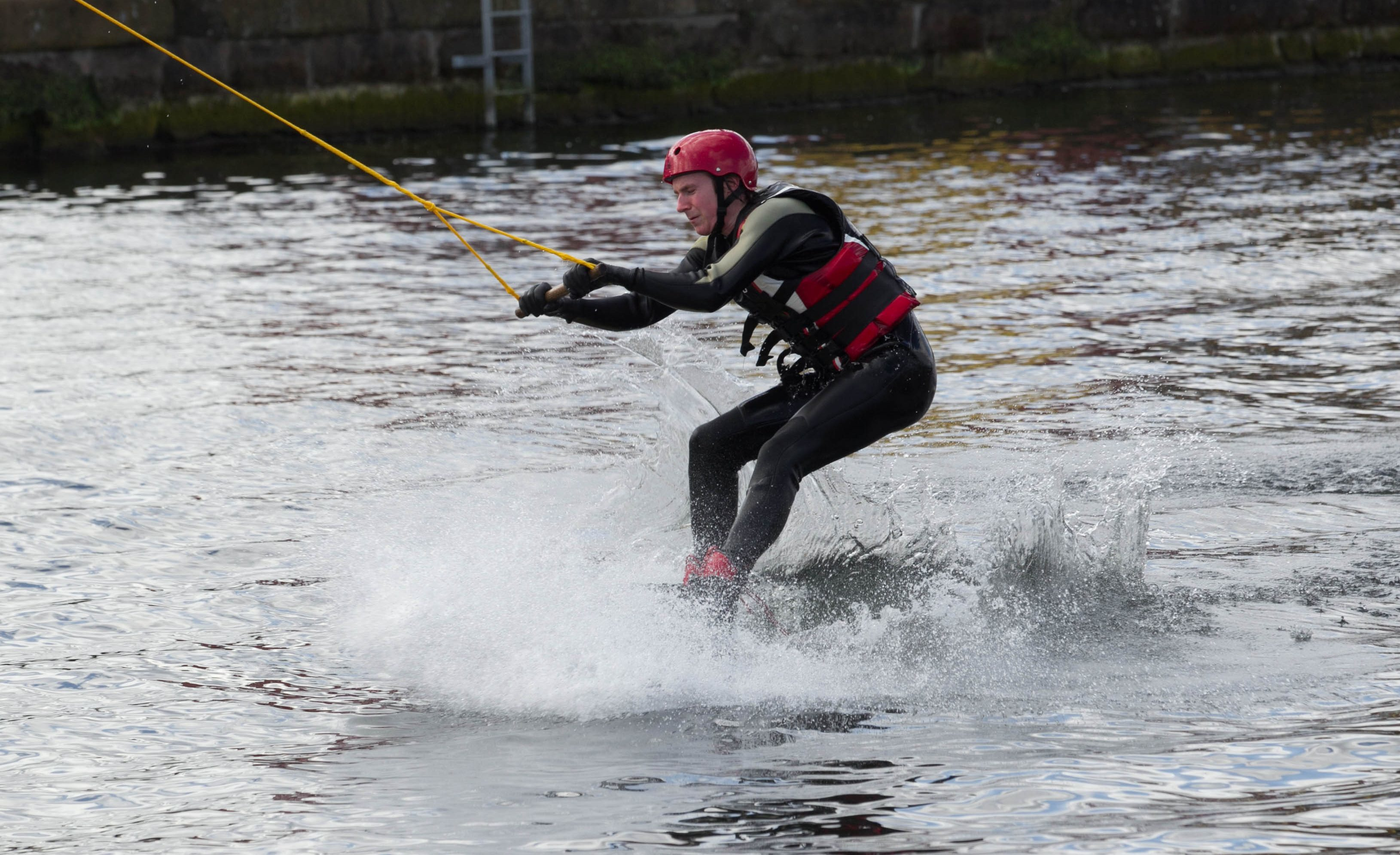 A wakeboarder.