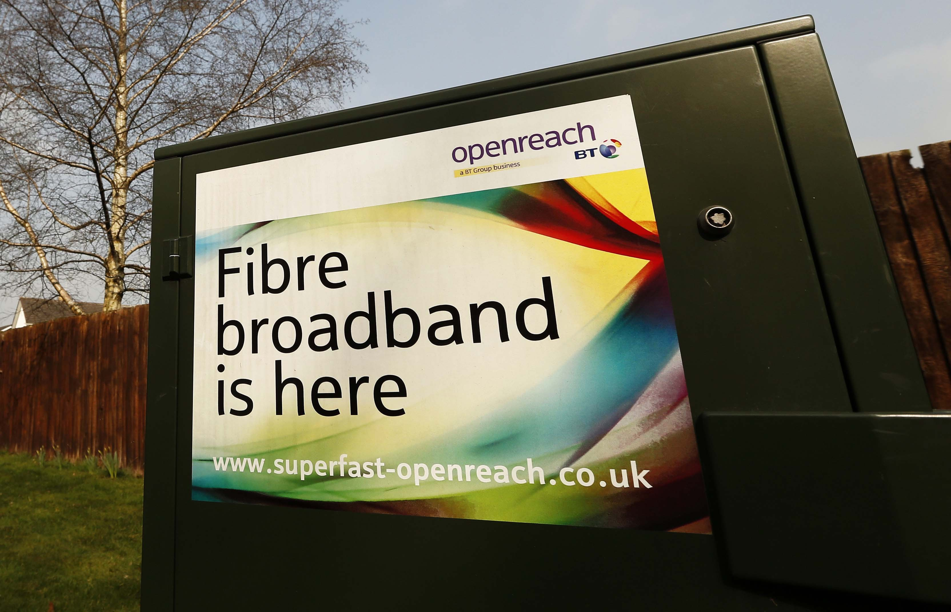 An advertisement from BT Open Reach.
