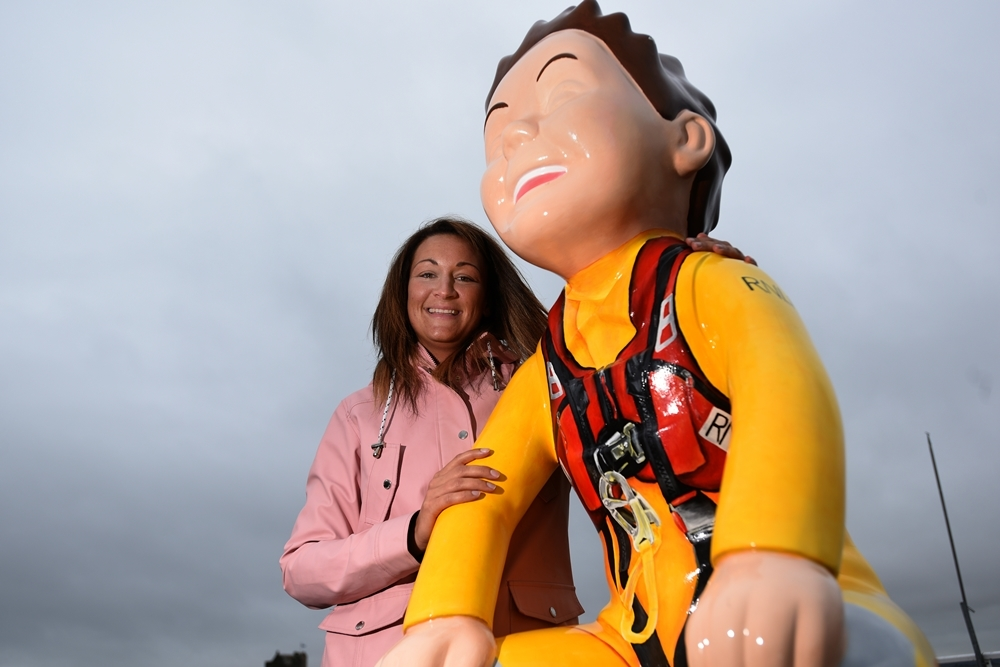 """Gemma at the Broughty """"Wullie""""."""