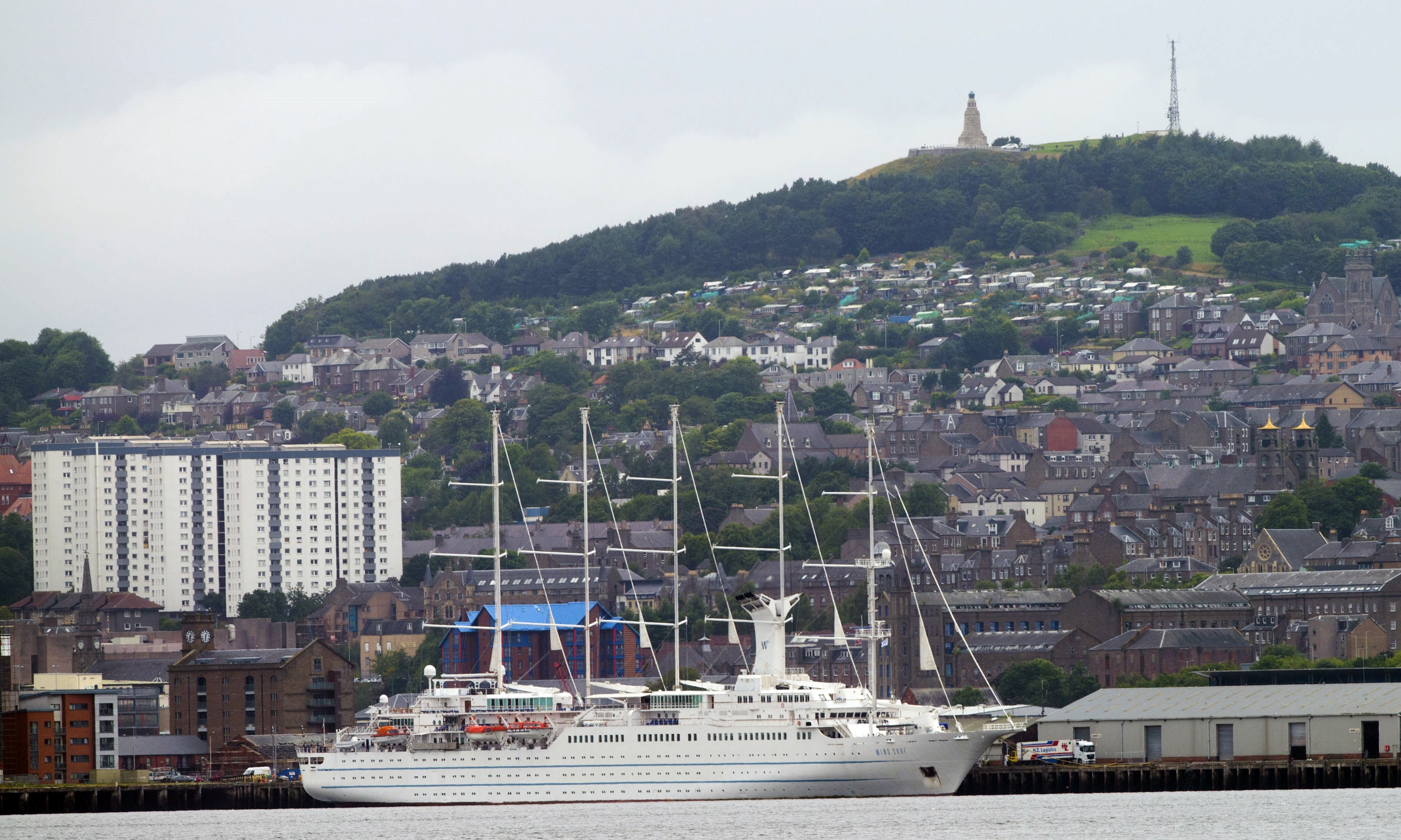 The Wind Surf berthed in Dundee.