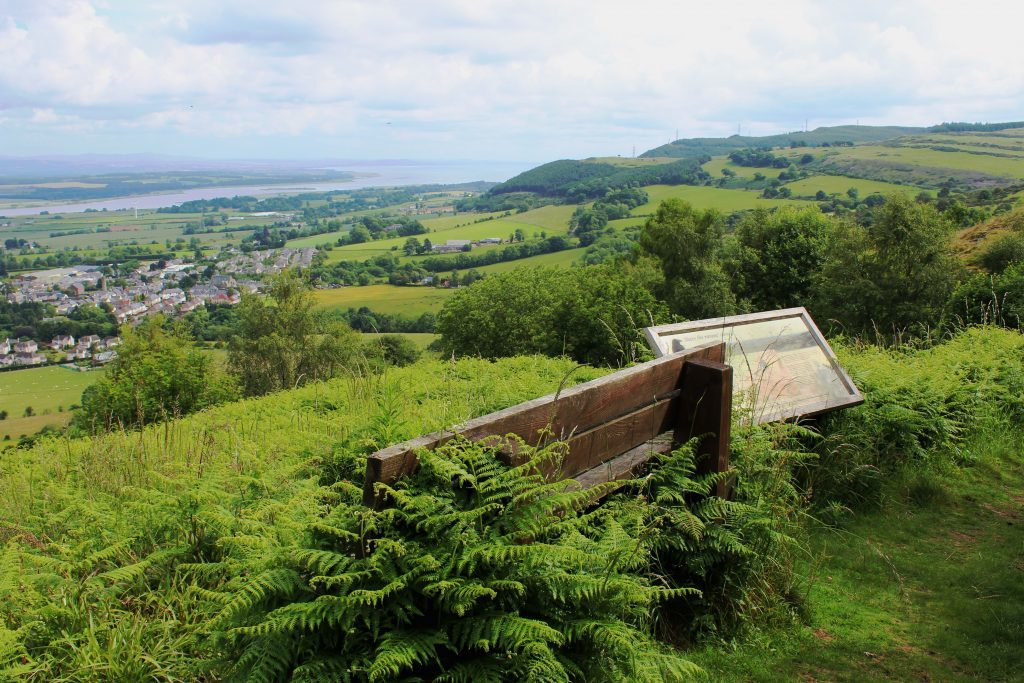 3 - A well placed bench and information board part way up Castle Law - James Carron, Take a Hike