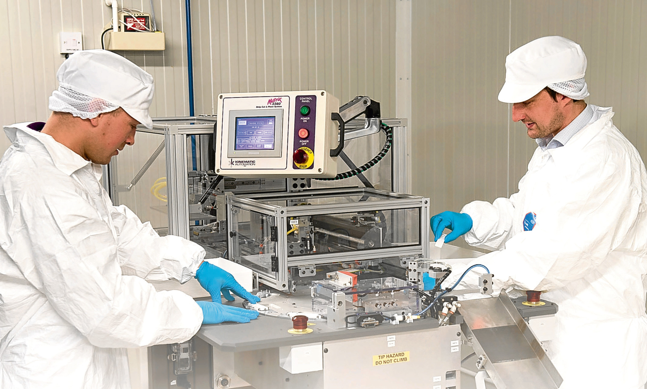 Omega Diagnostics technicians at work at the firm's in-house facility at Alva
