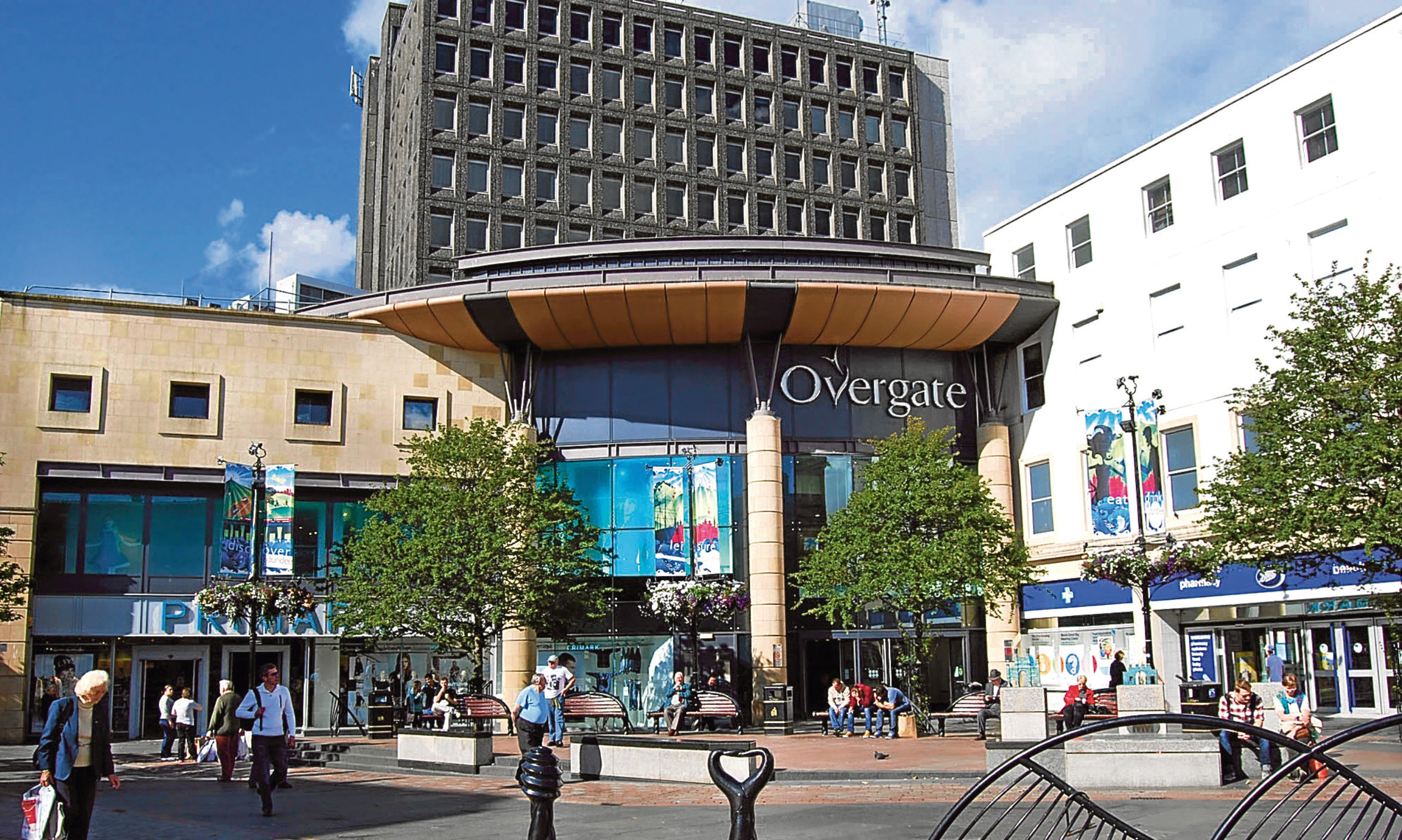 Debenhams is based in the Overgate Shopping Centre in Dundee
