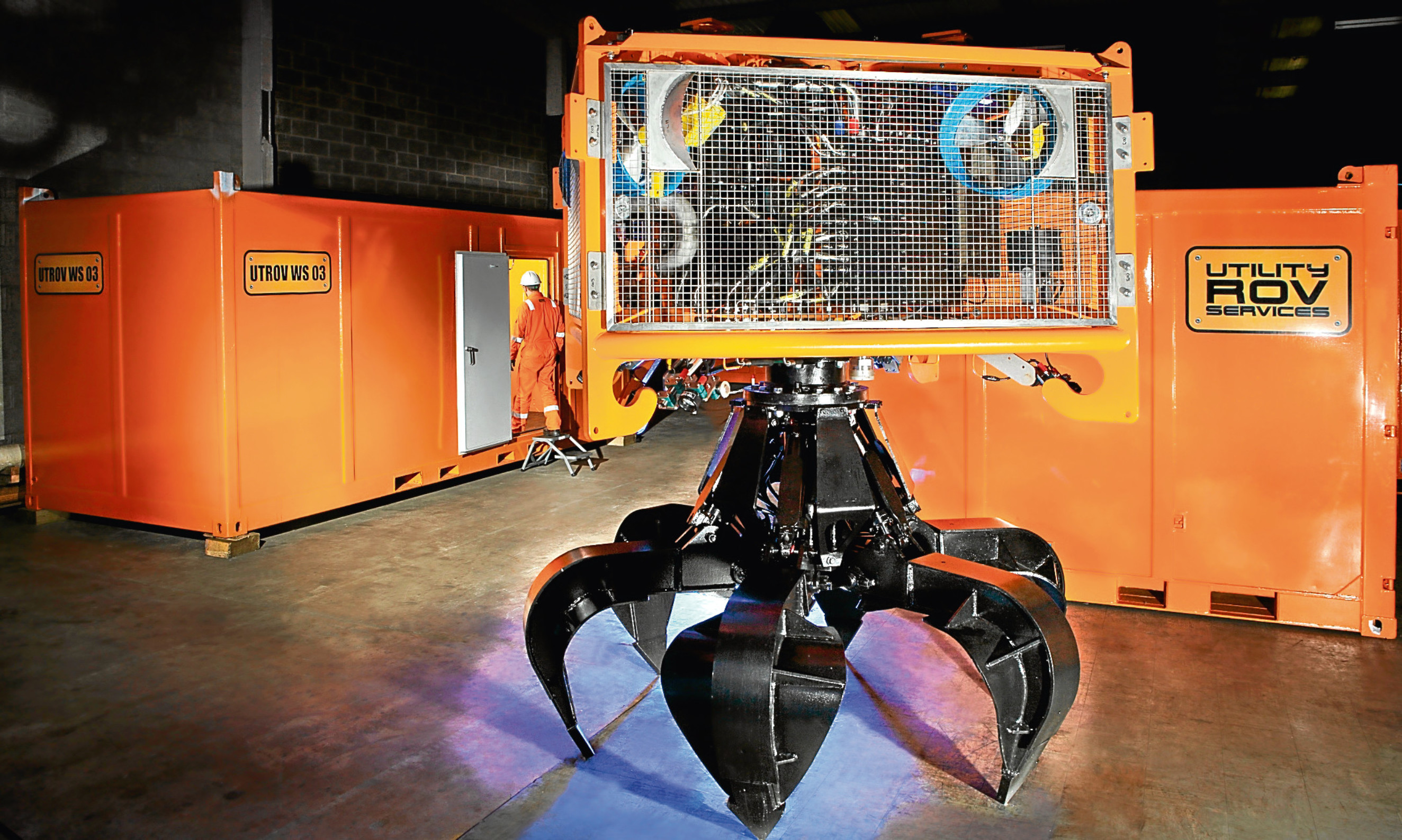 A remotely operated vehicle manufactured by Fife based Utility ROV