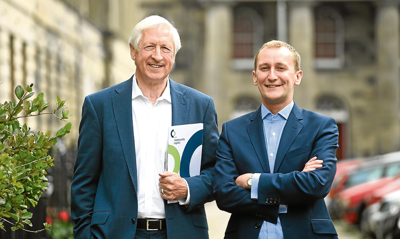 Social Investment Scotland Chairman Nick Kuenssberg and Chief Executive Alastair Davis