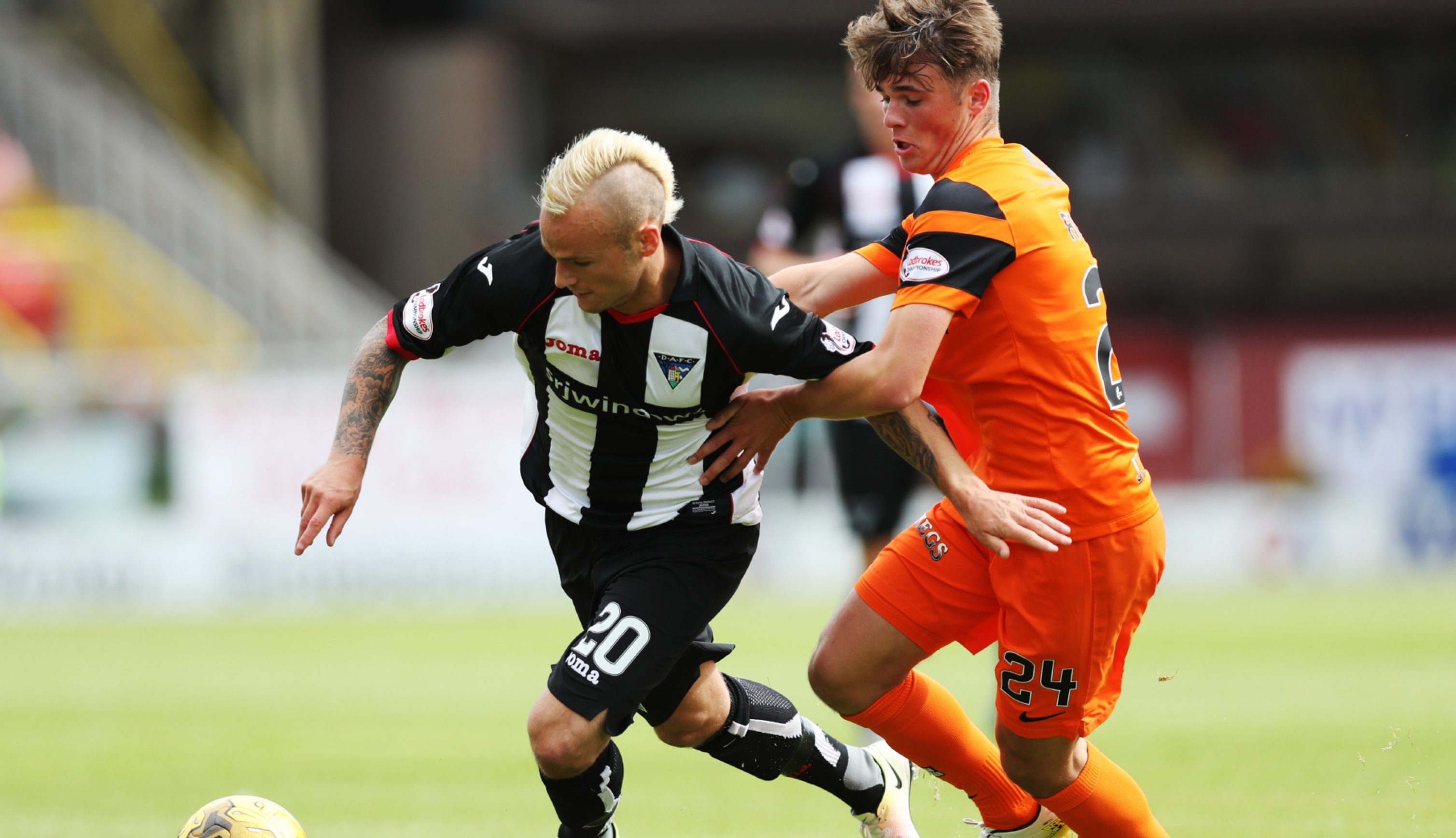 Jamie Robson in action against Dunfermline.