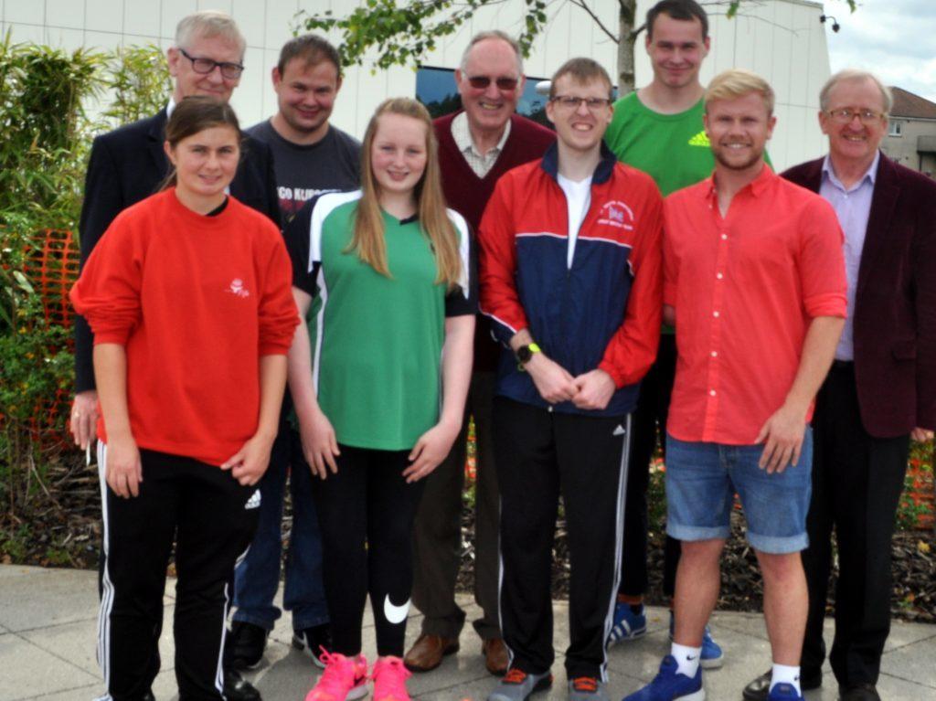 Cara Smyth fourht left) at a Disability Sports Fife event