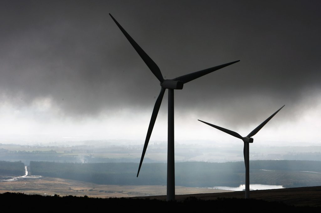 Braes of Doune wind farm in Stirlingshire