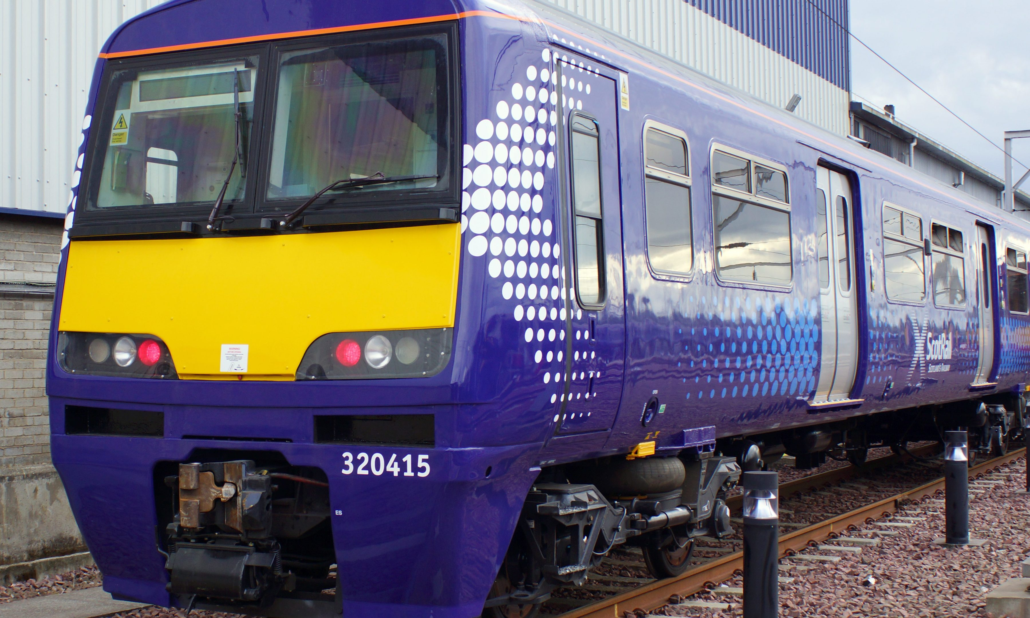 An example of the new trains going into service in Glasgow.