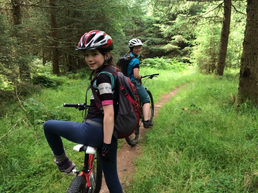 A bit of family off-road cycling.
