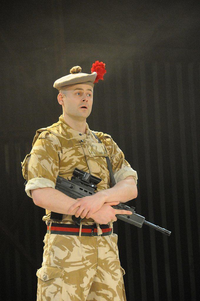 Dundee actor Adam McNamara in the Black Watch play