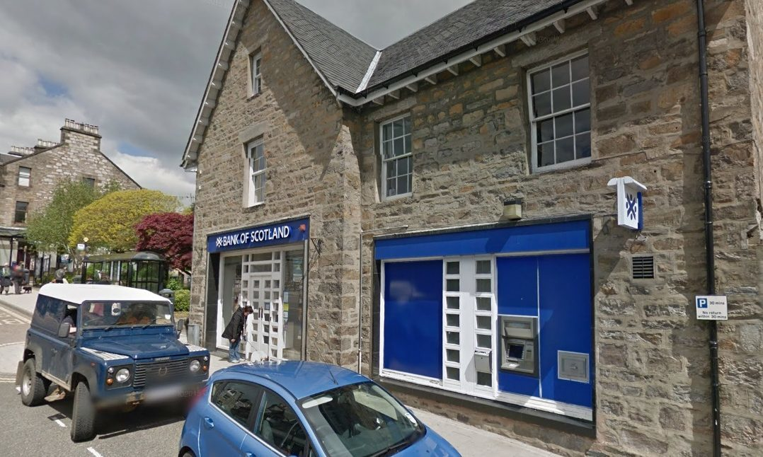 The Bank of Scotland branch in Pitlochry.