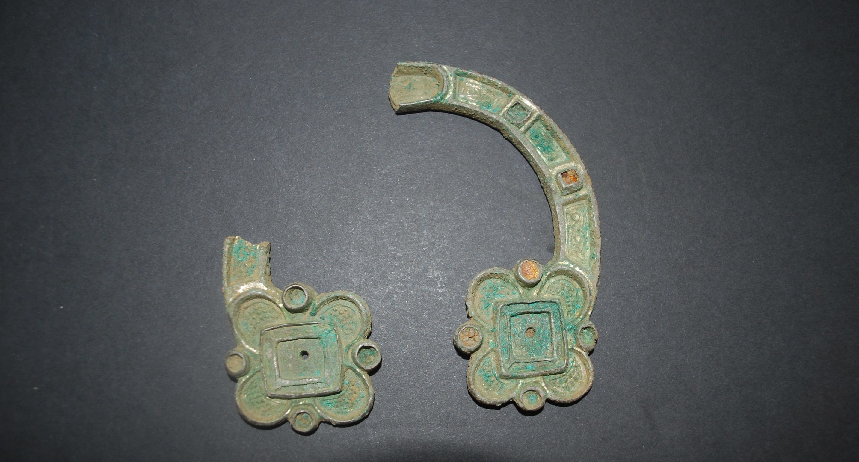 The brooch unearthed at Boarhills