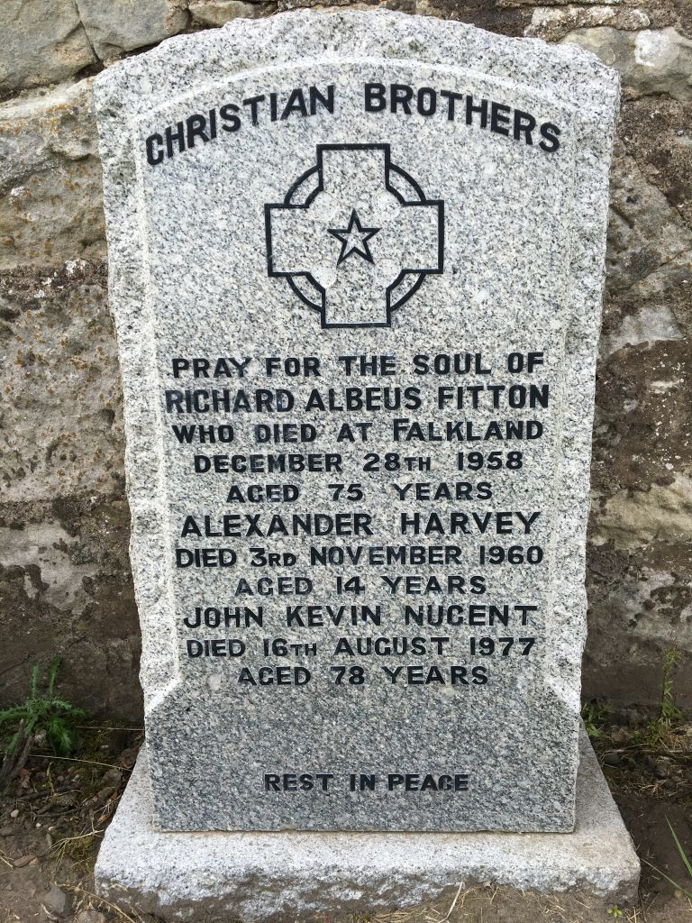 The grave in Falkland cemetery