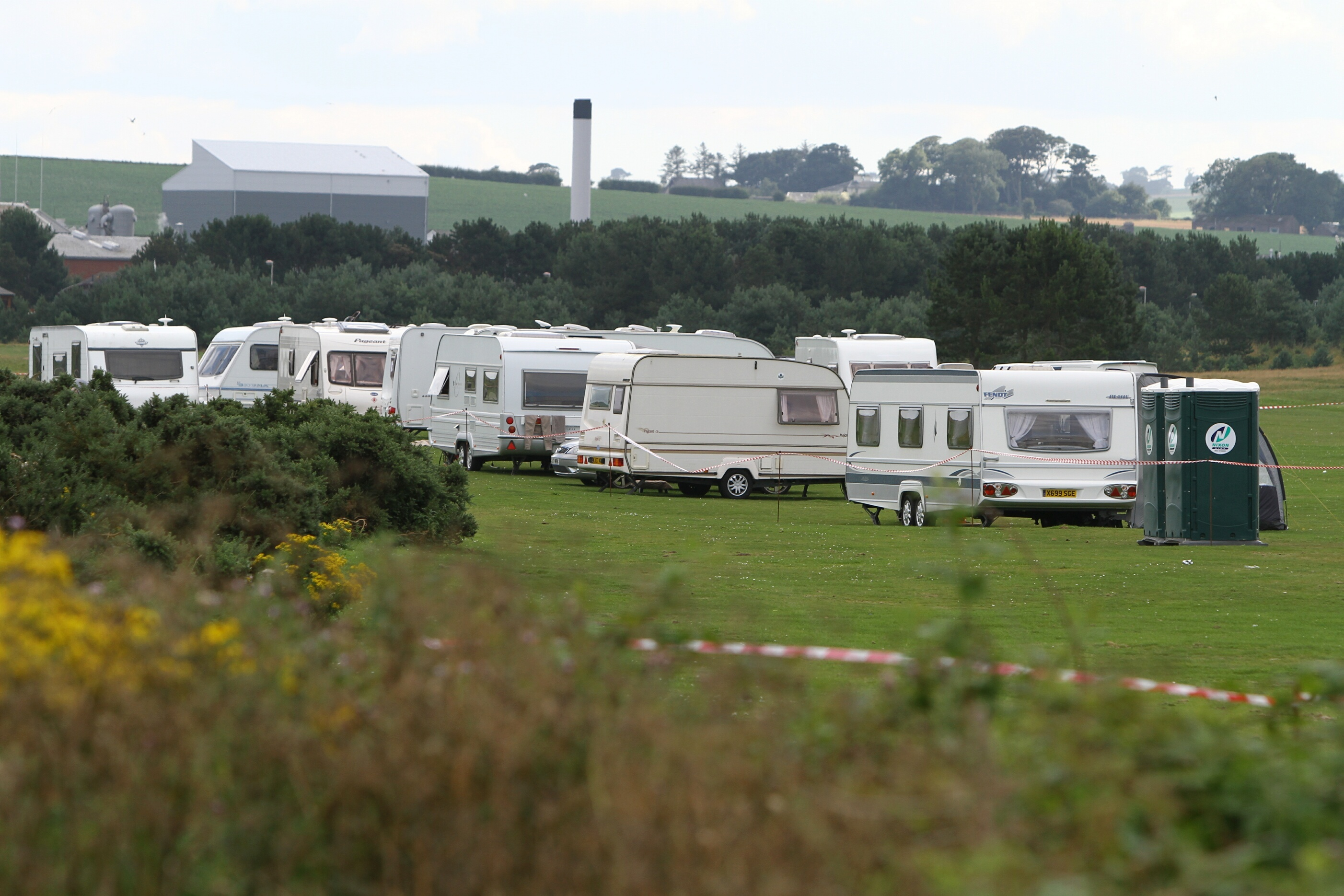 Travellers camped at the Links in Montrose.