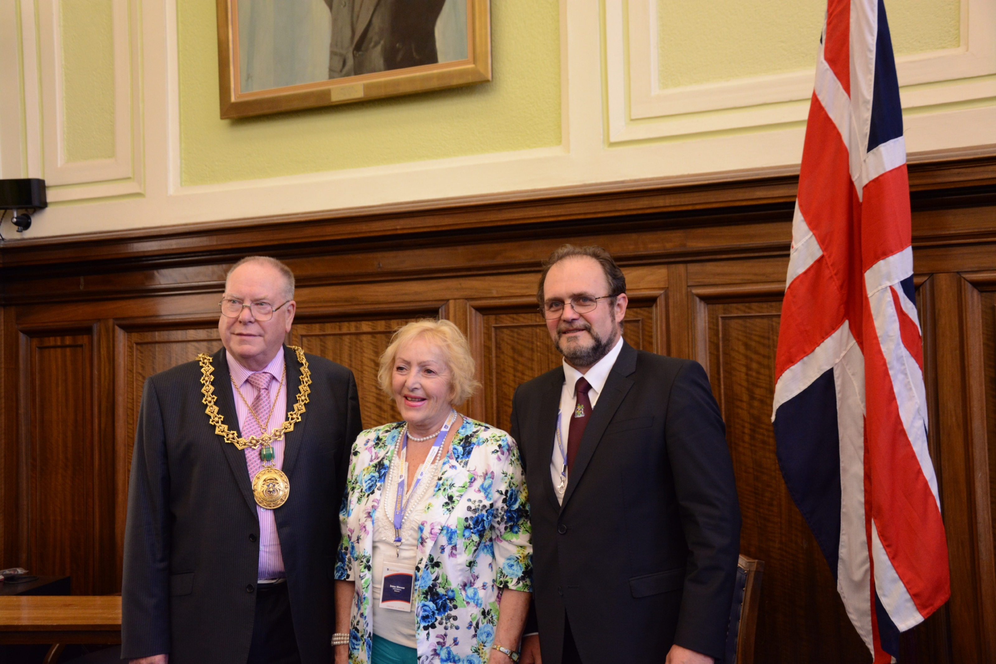 Lord Provost Bob Duncan with Professor Mosse and Professor Zhelev