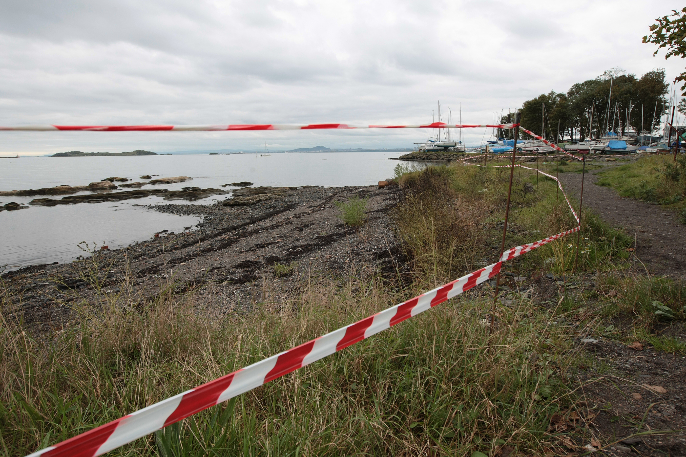 Part of the beach at Dalgety Bay where radioactive particles were found.