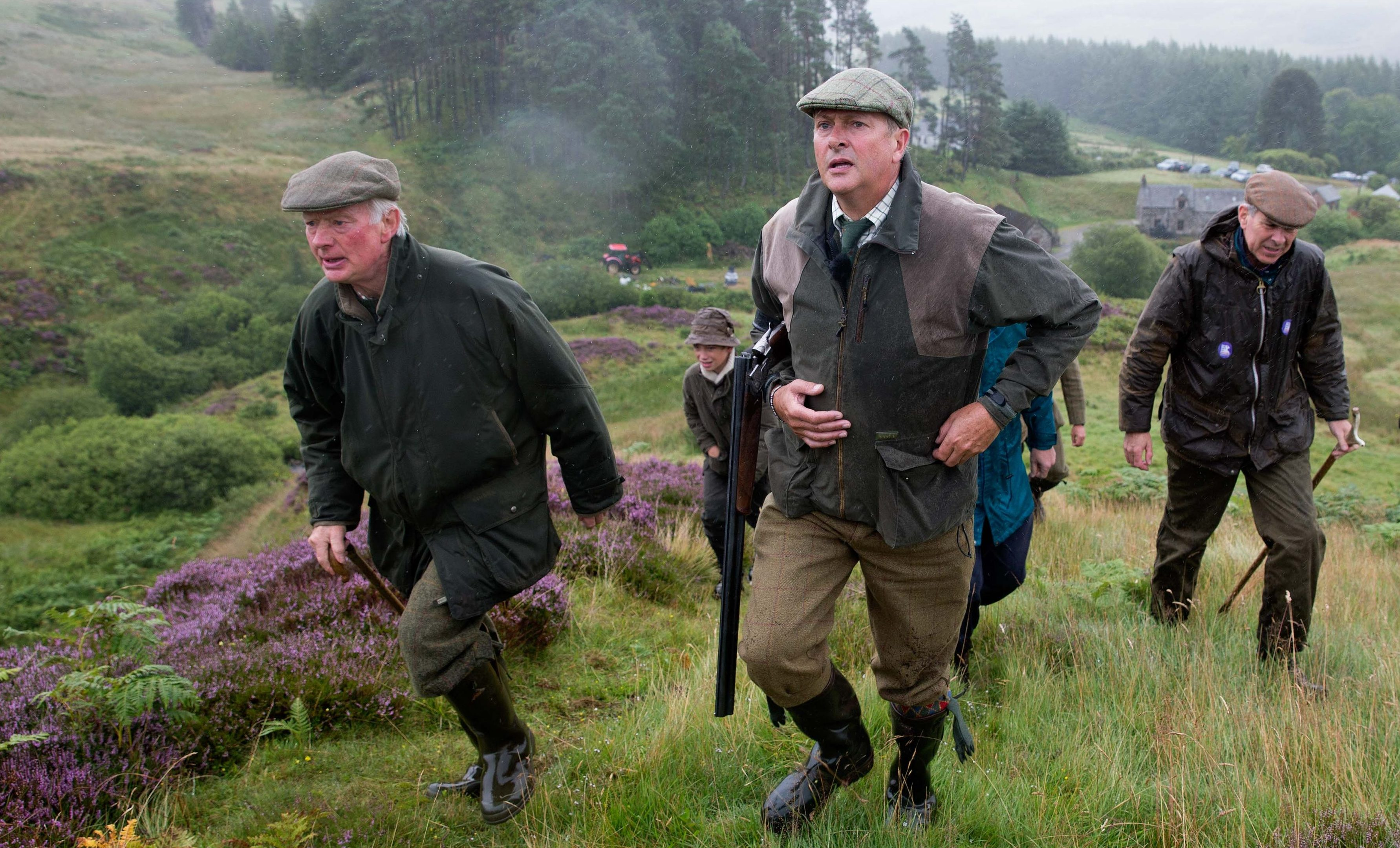 Nick Nairn on the grouse moors of the Abercairny estate.