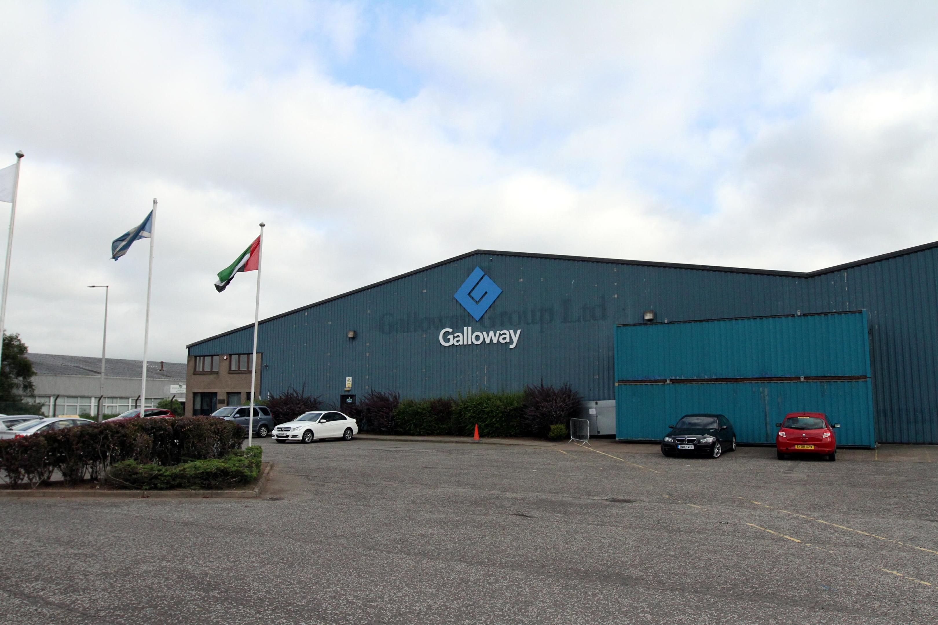 The Galloway factory which closed last week.