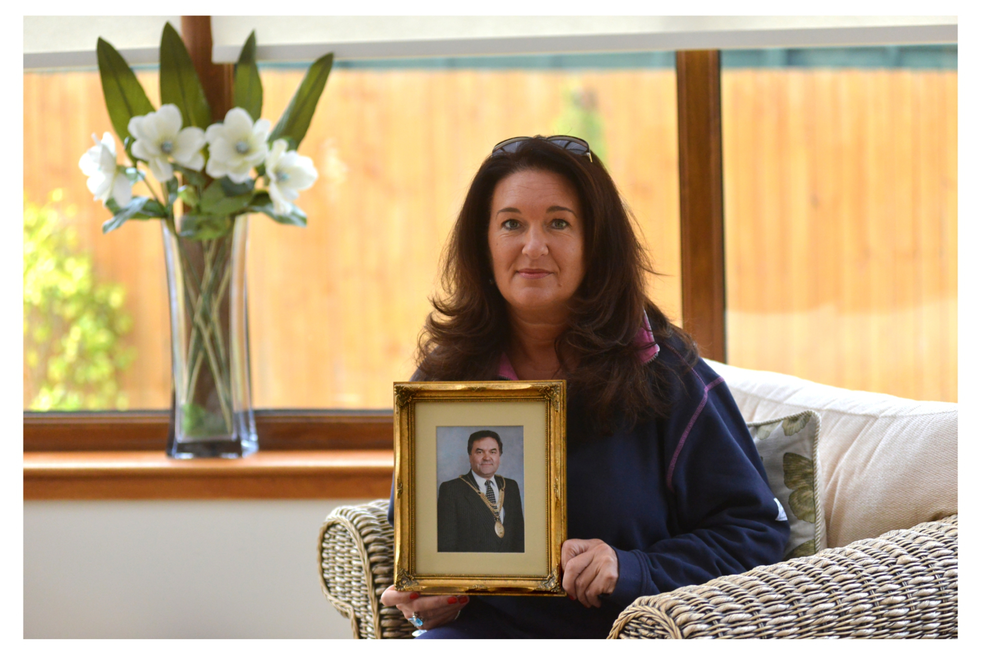 Picture of Julie MacDougall, whose father John, a former MP for Glenrothes, died of mesothelioma eight years ago.