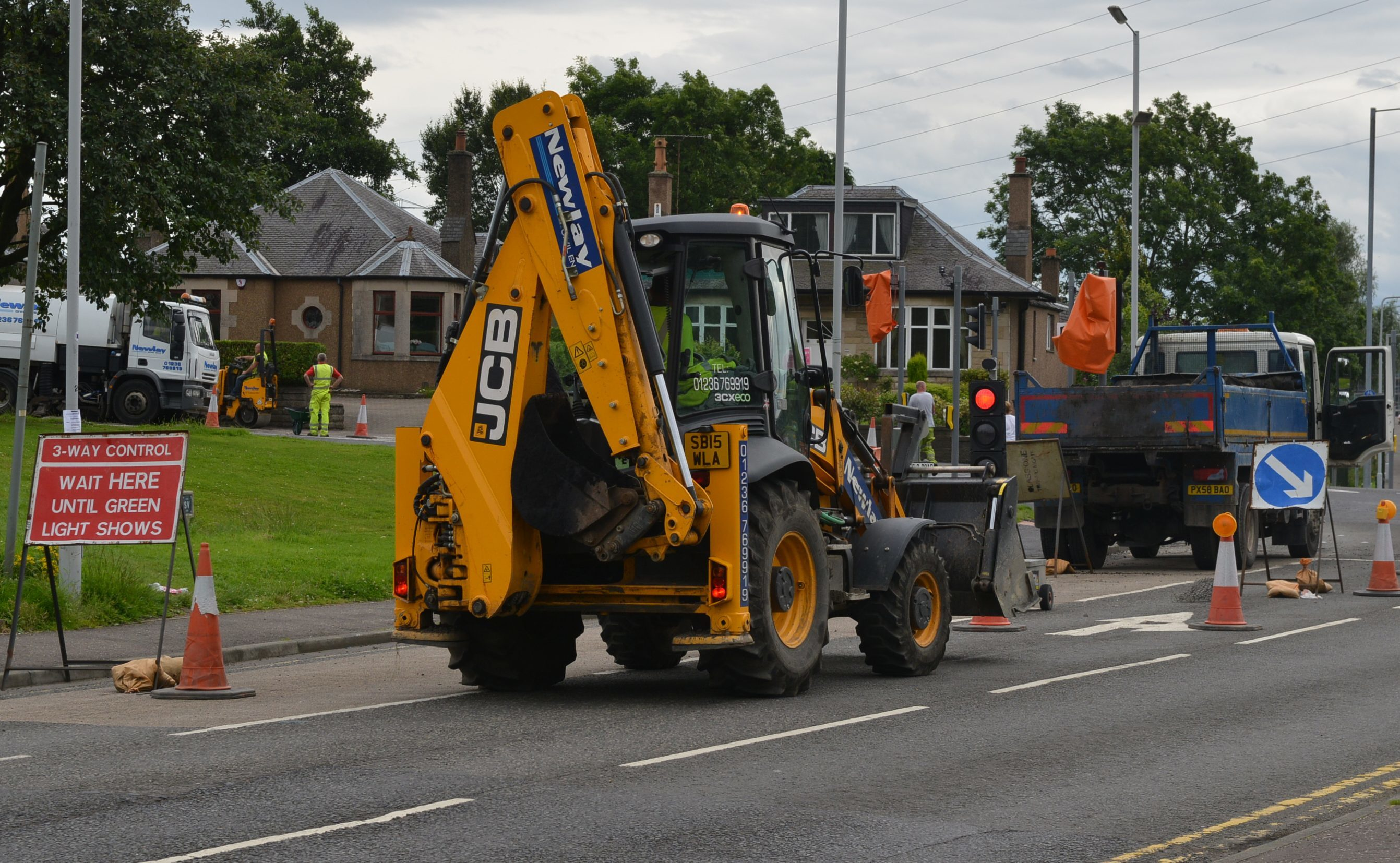 Road works at Halbeath in Dunfermline recently.