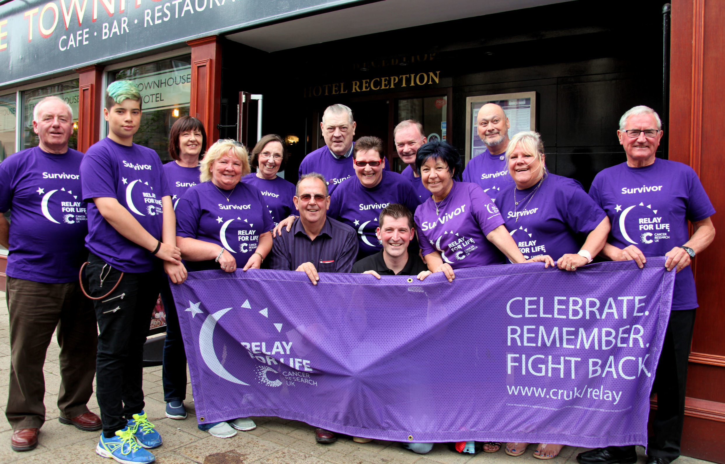 A group of cancer survivors gathered in Arbroath ahead of the town's Relay for Life event