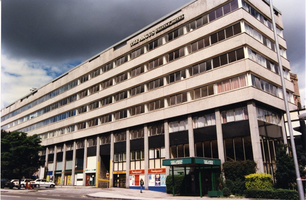 Groucho's was previously housed below the Angus Thistle Hotel in the Marketgait.