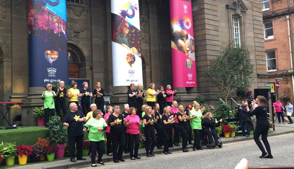 Perth's Rock Choir help launch the City of Culture bid.