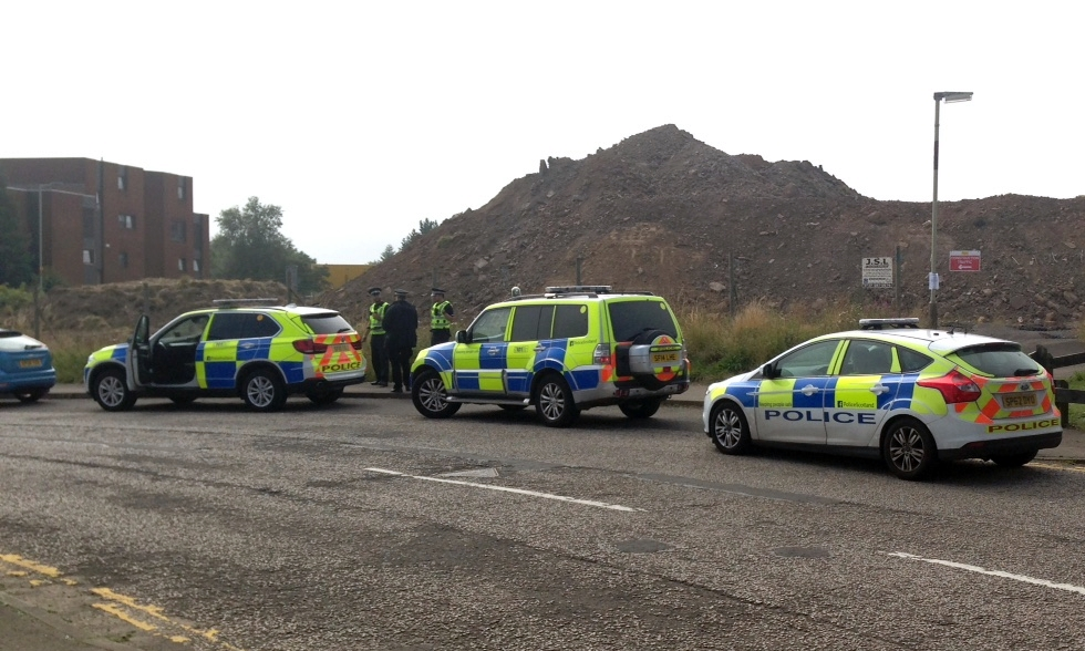 Police were seen on Alexander Street after Thursday's incident