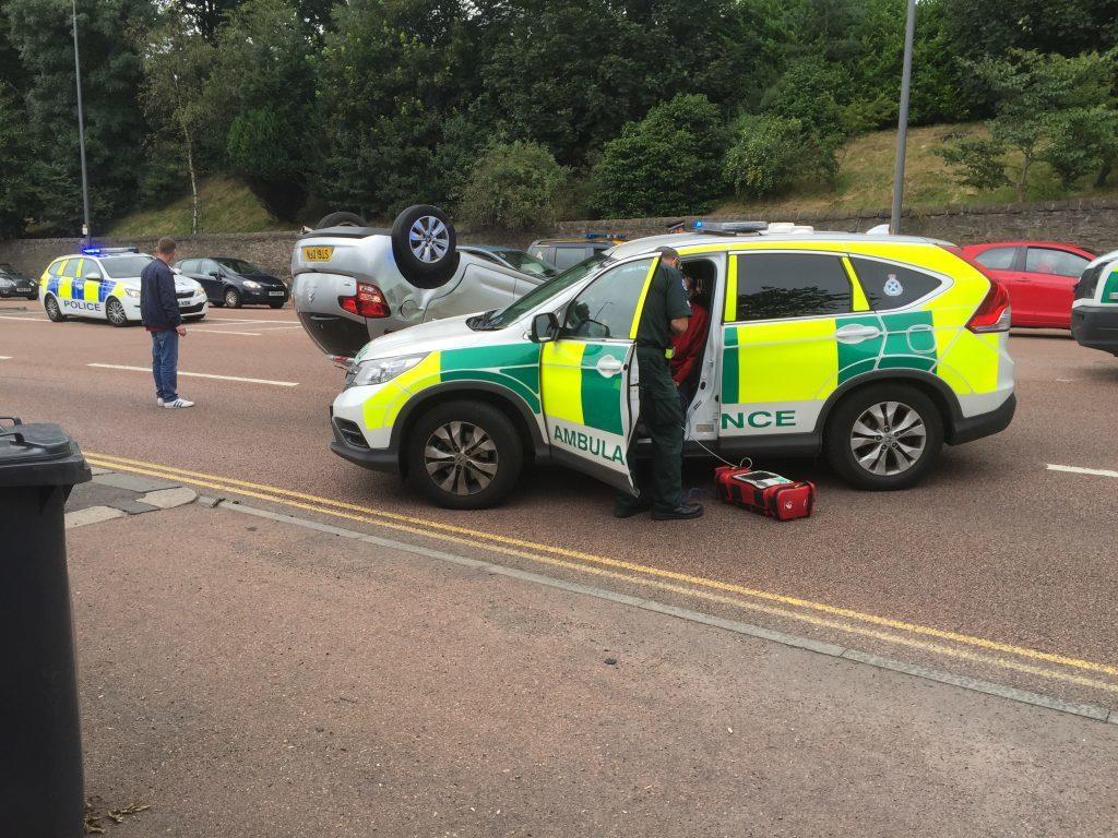 Paramedics at the scene.