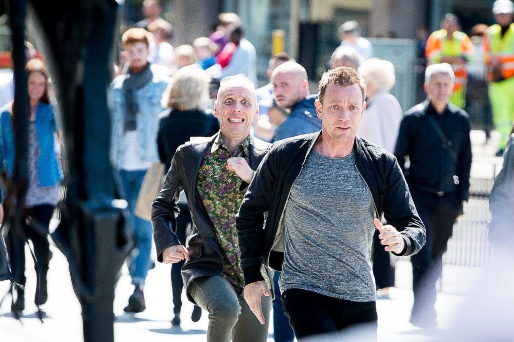Recent scene from Trainspotting 2 being filmed in Edinburgh. Shoplifting is a common way for heroin addicts to feed their habit.