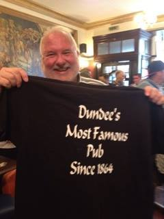 John Justice in his pub.