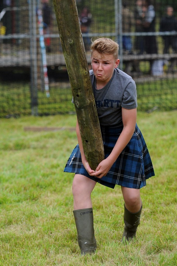 Christian Ramsay competing in the junior heavies