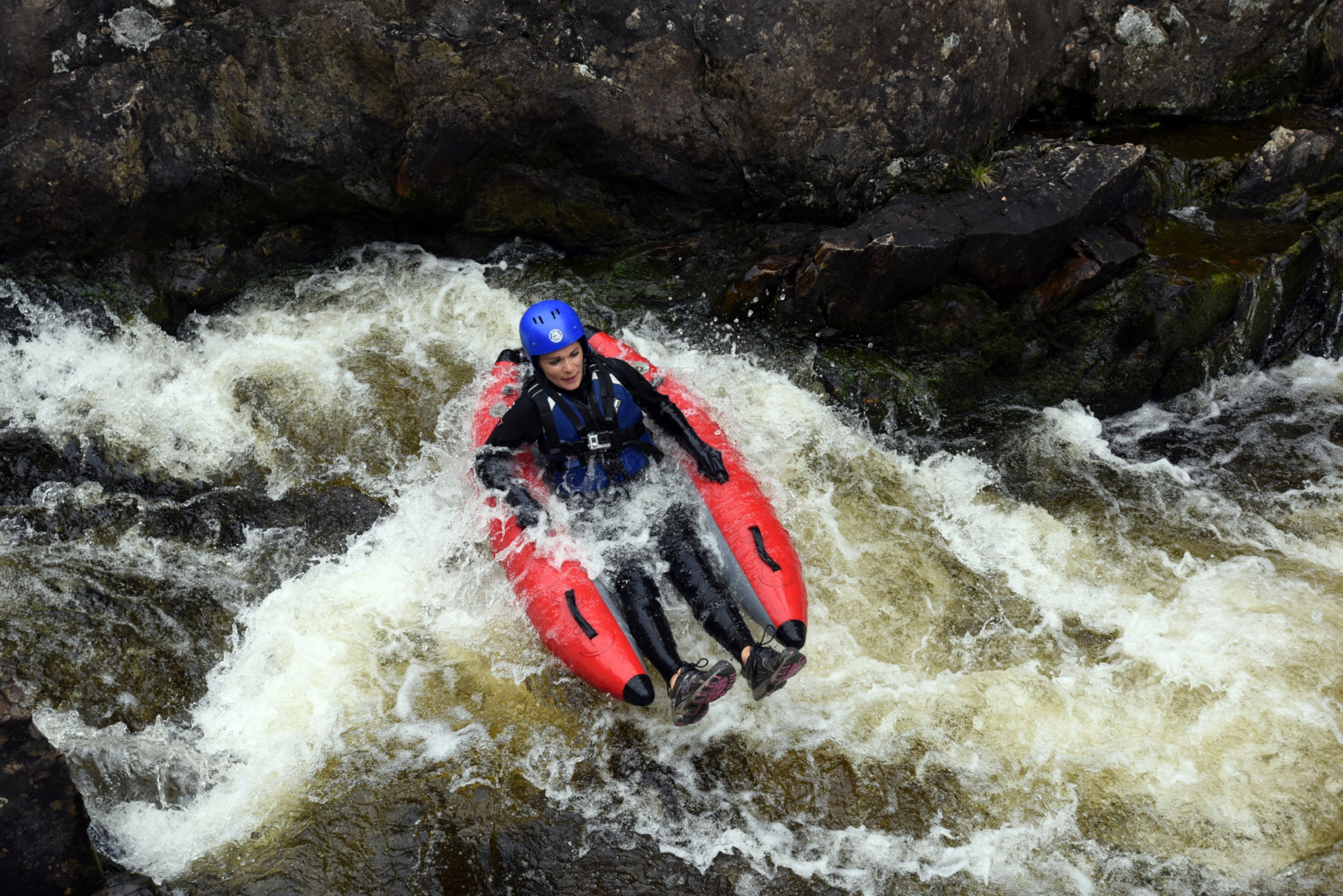 Gayle Ritchie goes river bugging  on the River Tummel.