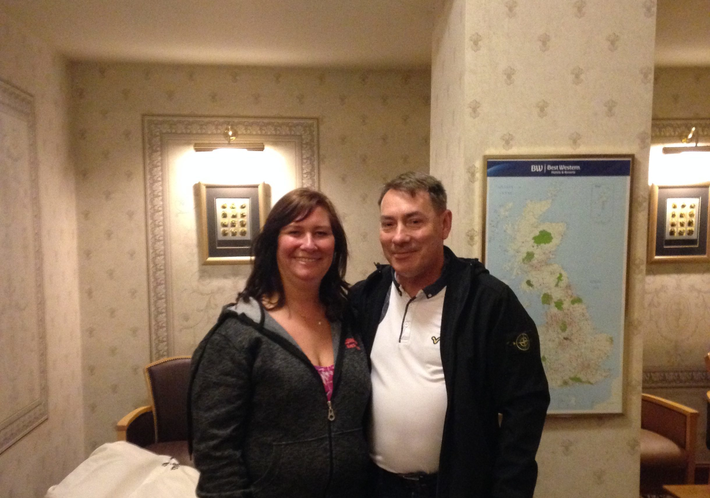 Keith and Sharon are happy after the Queens Hotel agreed to fund their first wedding anniversary celebration.