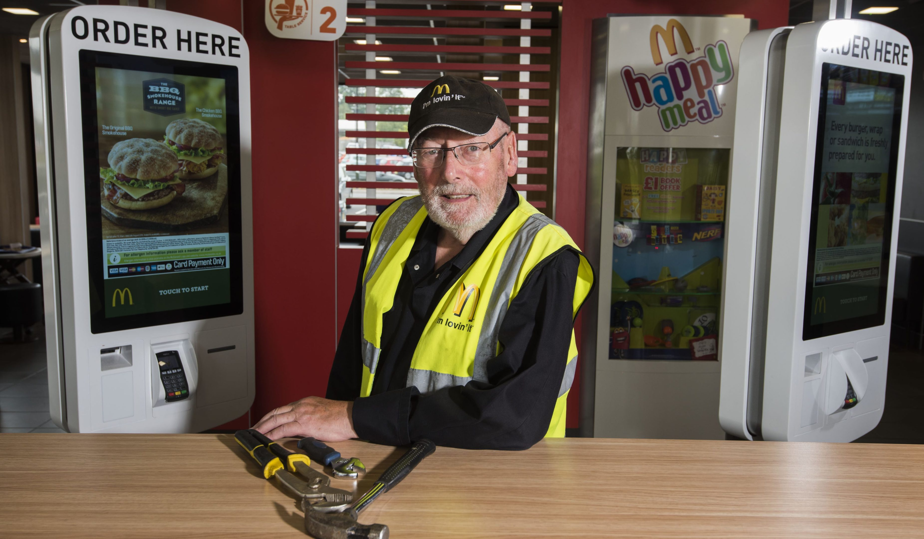 John Mabey is enjoying working even after retiring.