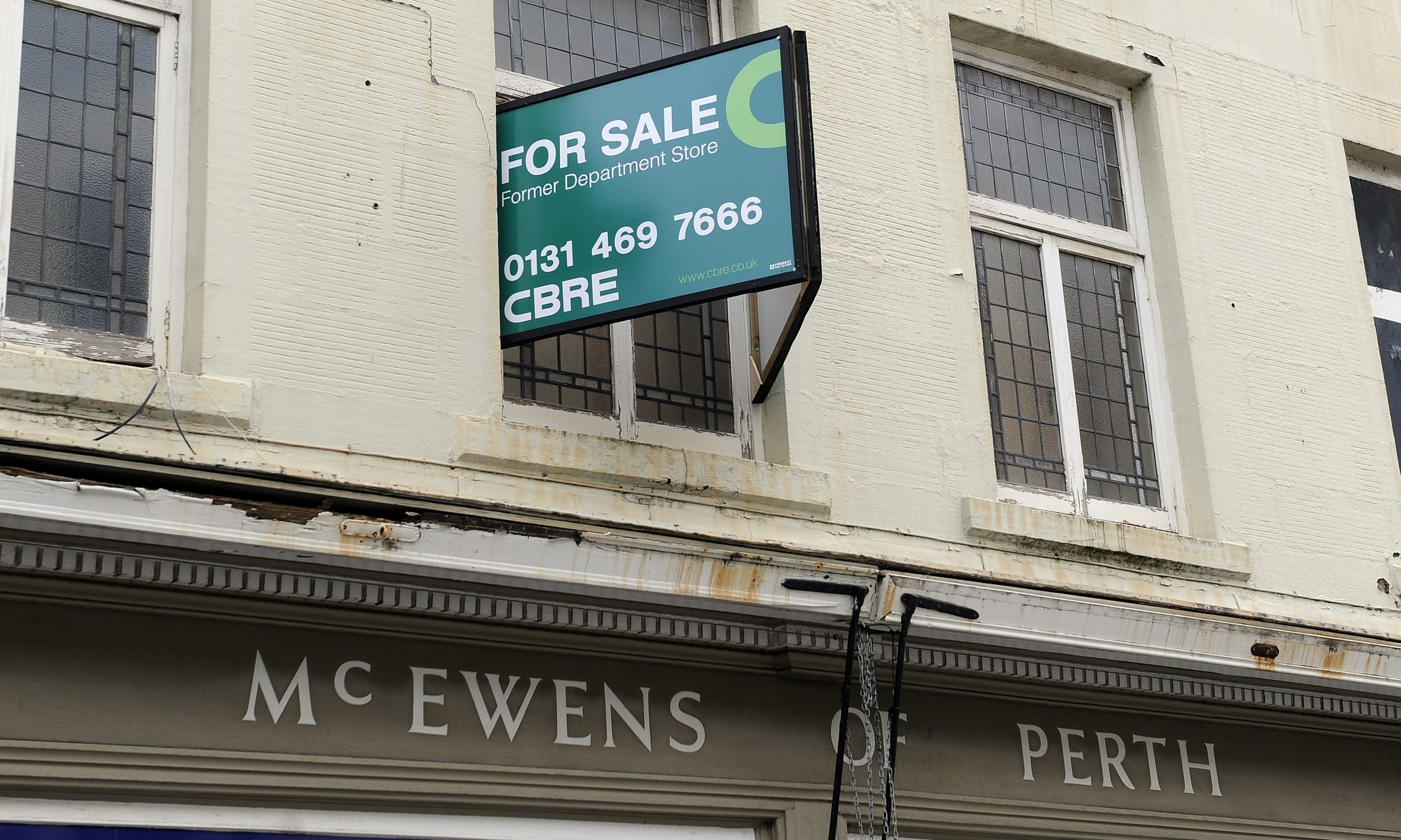 For sale signs at McEwens