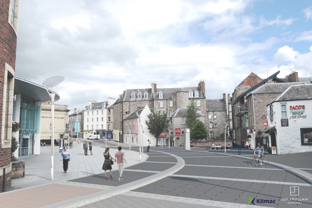An artist's impression of the area around the Concert Hall once complete.