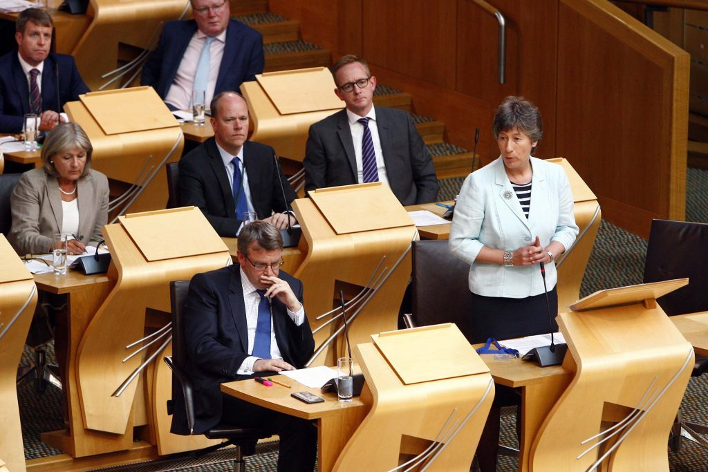 Liz Smith MSP in action at Holyrood