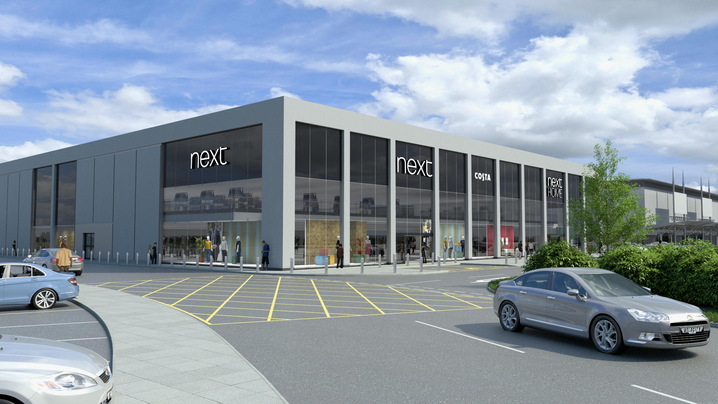 The proposed new Next store on the Kingsway.
