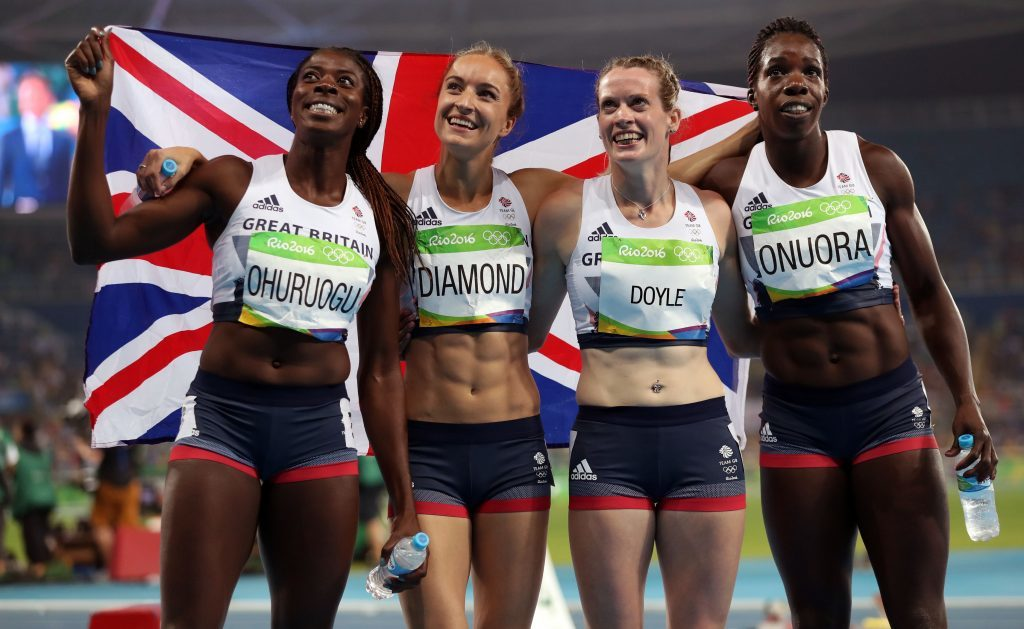 Eilidh Doyle at the last Olympics.