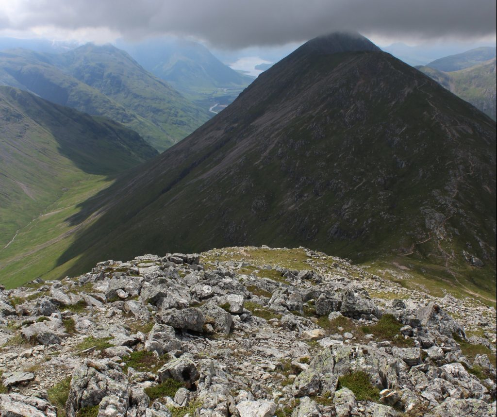 View from the top: on Buachaille Etive Beag.