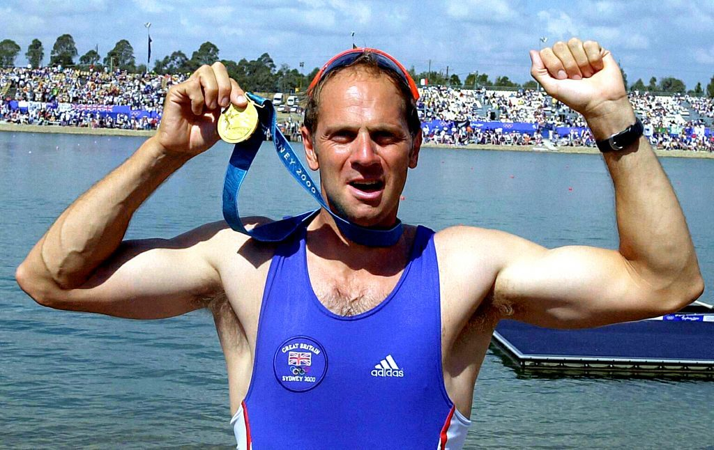 Sir Steve Redgrave winning his fifth Olympic Gold.