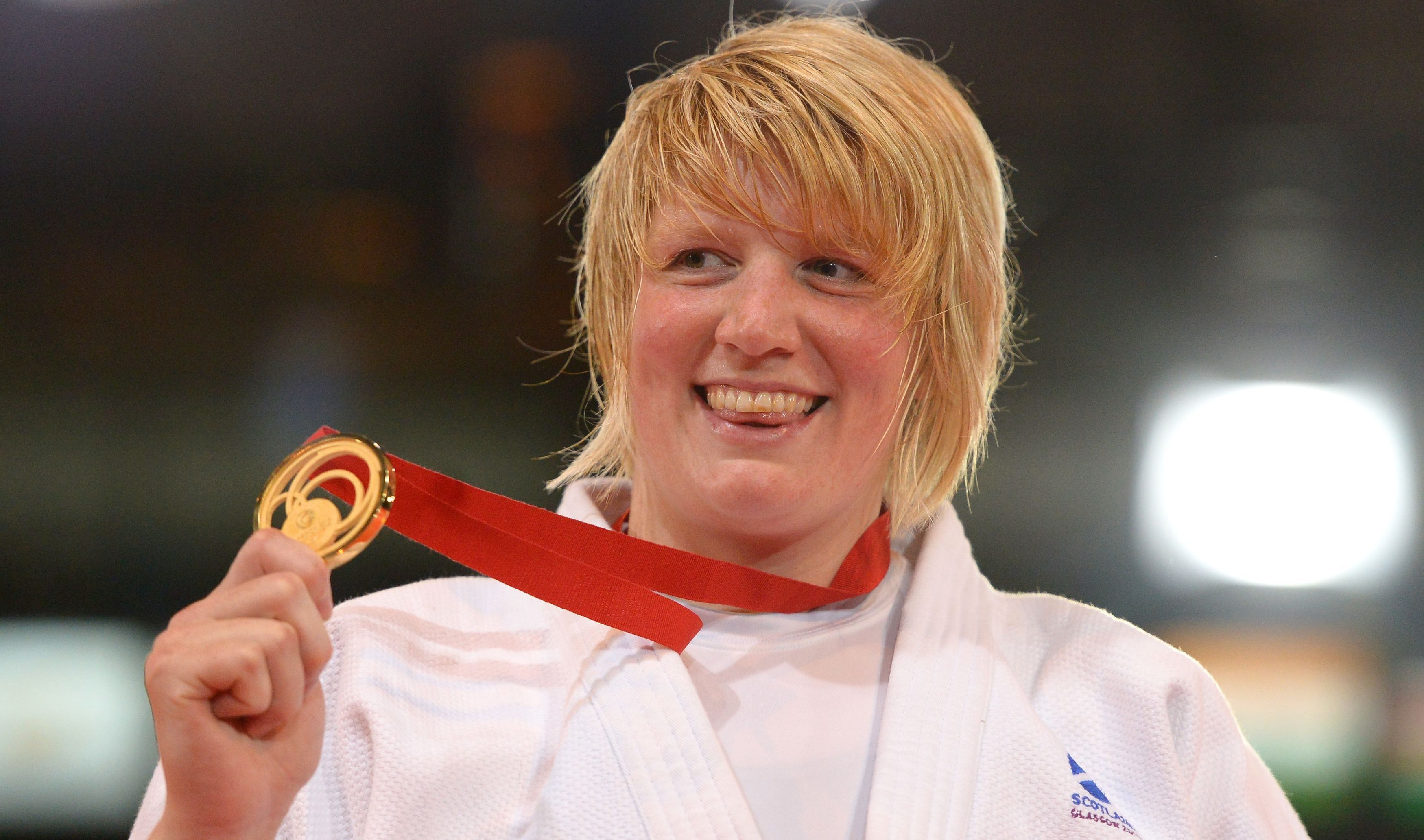 Gold medal winner Scotland's Sarah Adlington after her Women's +78kg Gold Medal Judo contest at the SECC during the 2014 Commonwealth Games in Glasgow.