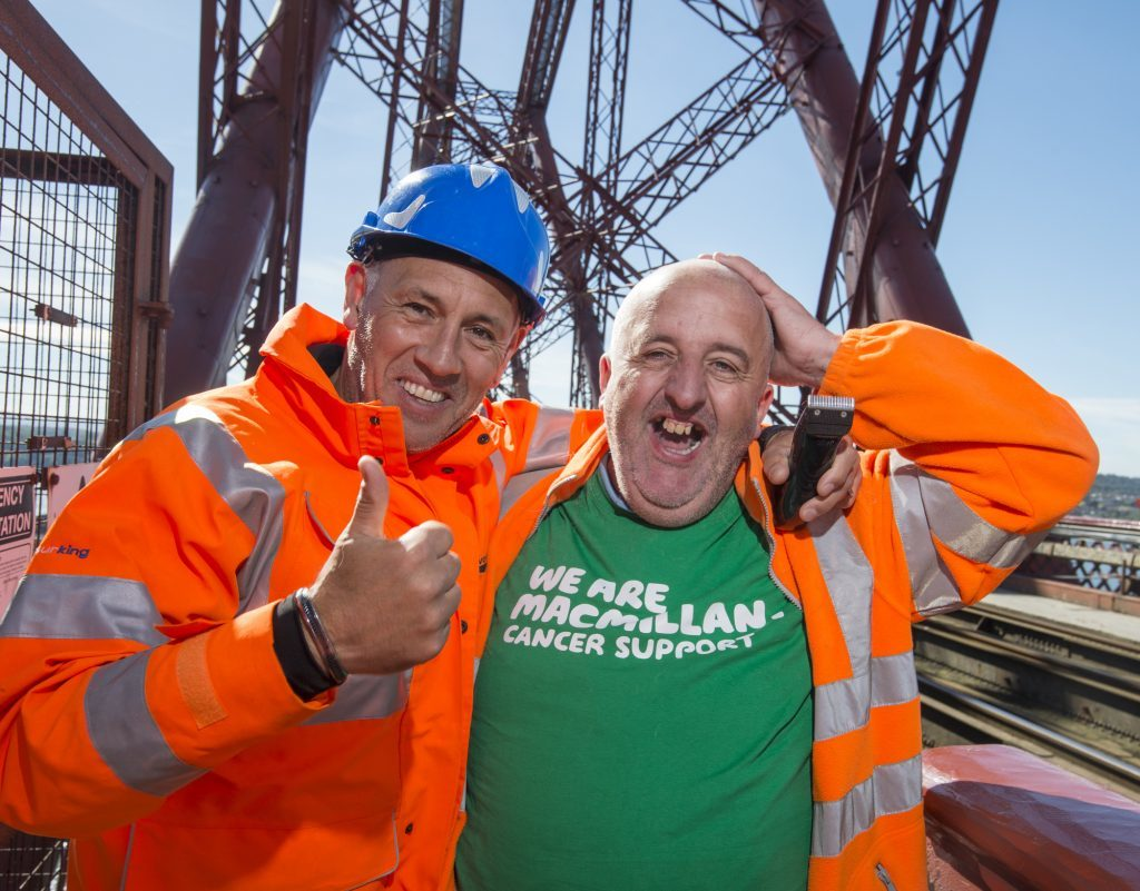 Macmillan Cancer Support's Brave the Shave - Forth Rail Bridge