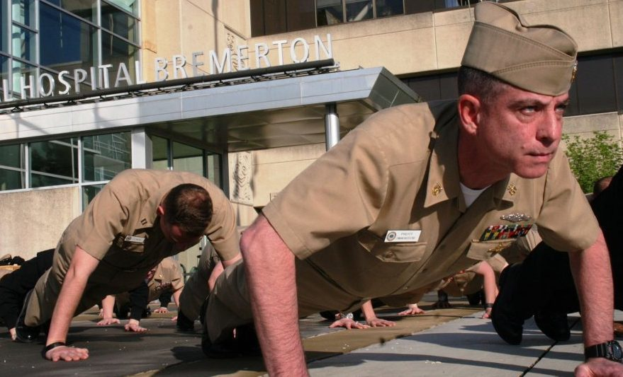 American troops lend support to the #22PushUpChallenge