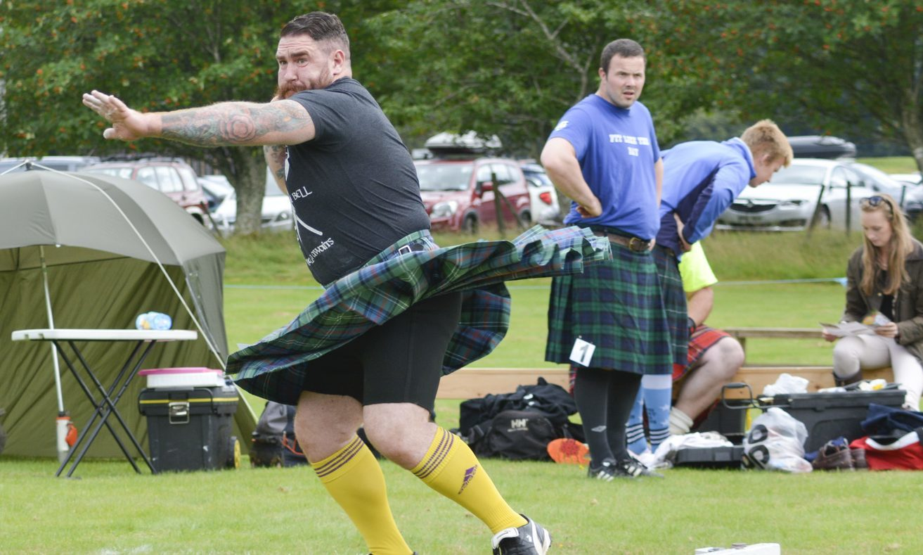 The Rannoch Highland Games in action.